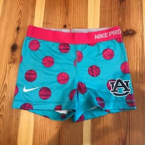 Auburn Women's Nike Pro Combat Shorts Small